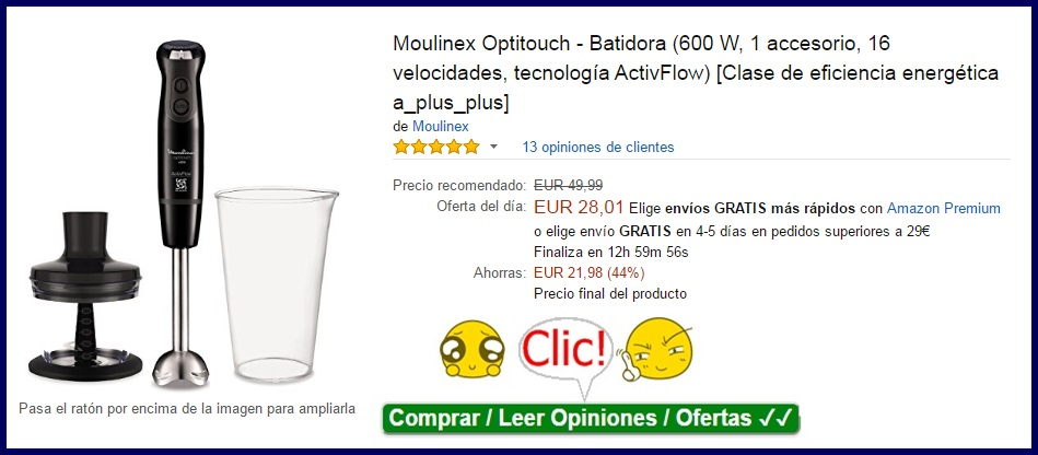 Moulinex Optitouch - Batidora
